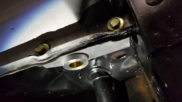 67-68 Adjustable Billet Aluminum Clutch Cable Stop / Firewall Brace