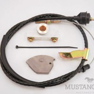 Cable Clutch Conversion Kit for 65-66 Mustang with Adjustable Cable Stop