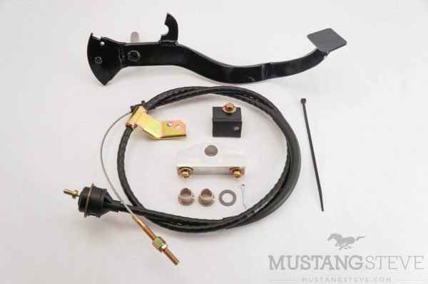 Cable Clutch Conversion Kit with Pedal and Pedal Stop for 65-66 Mustang Non-Adjustable Cable Stop